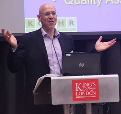 Neil Greenberg, presenting at Kings College
